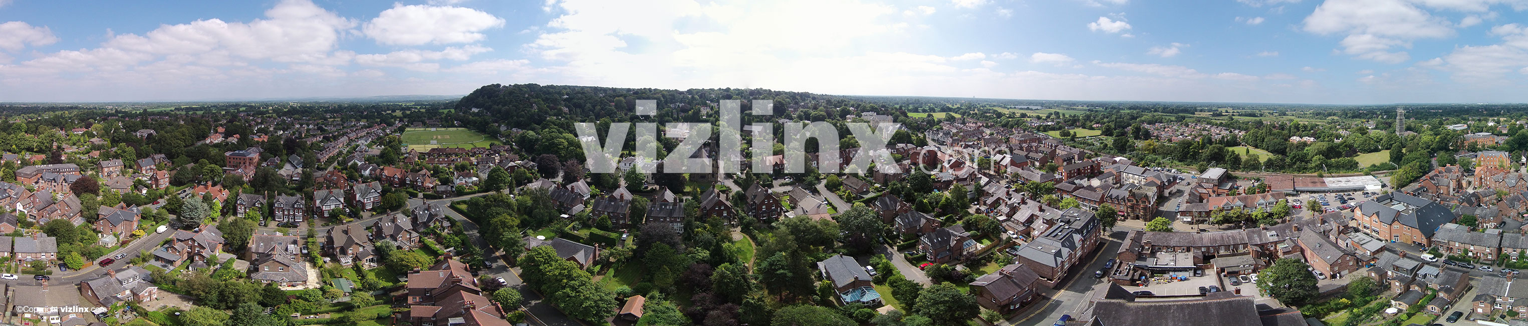 Panorama of Alderley Edge, Cheshire, vizlinx.com