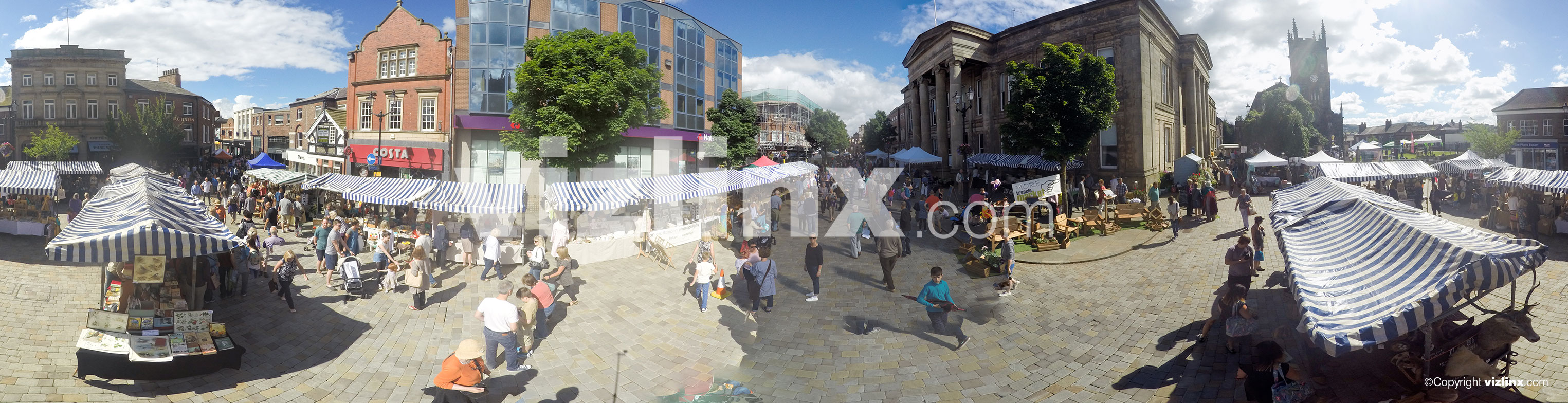 360 panorama of Treacle Market Macclesfield