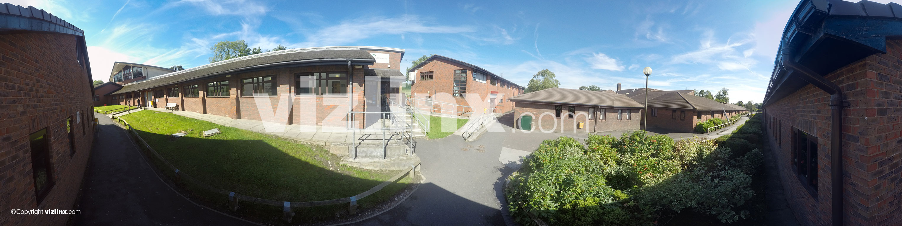 360 panorama of Fallibroome Academy Macclesfield