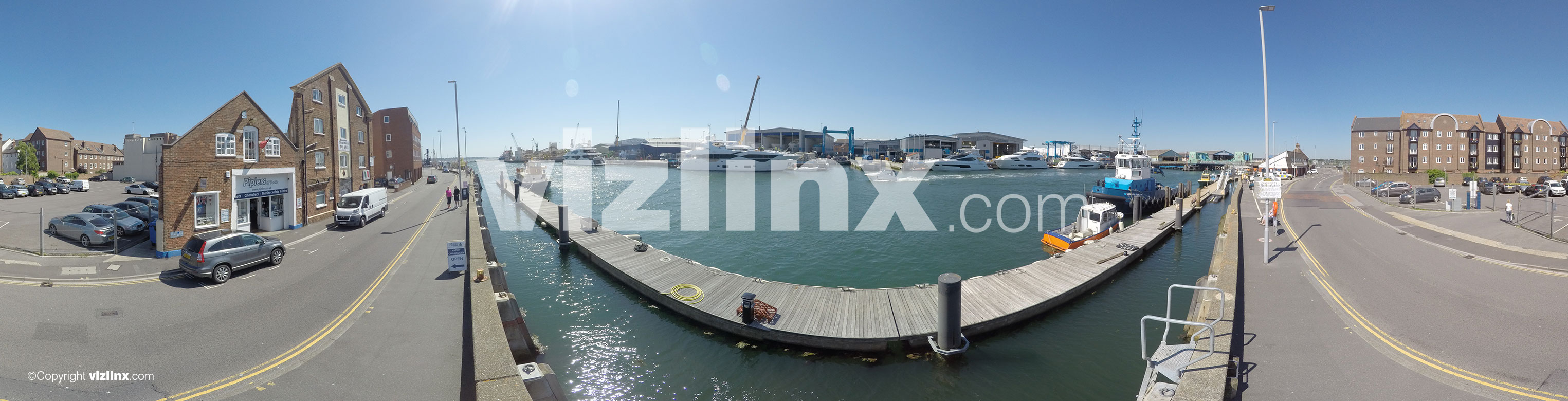 360 panorama of Poole Dorset