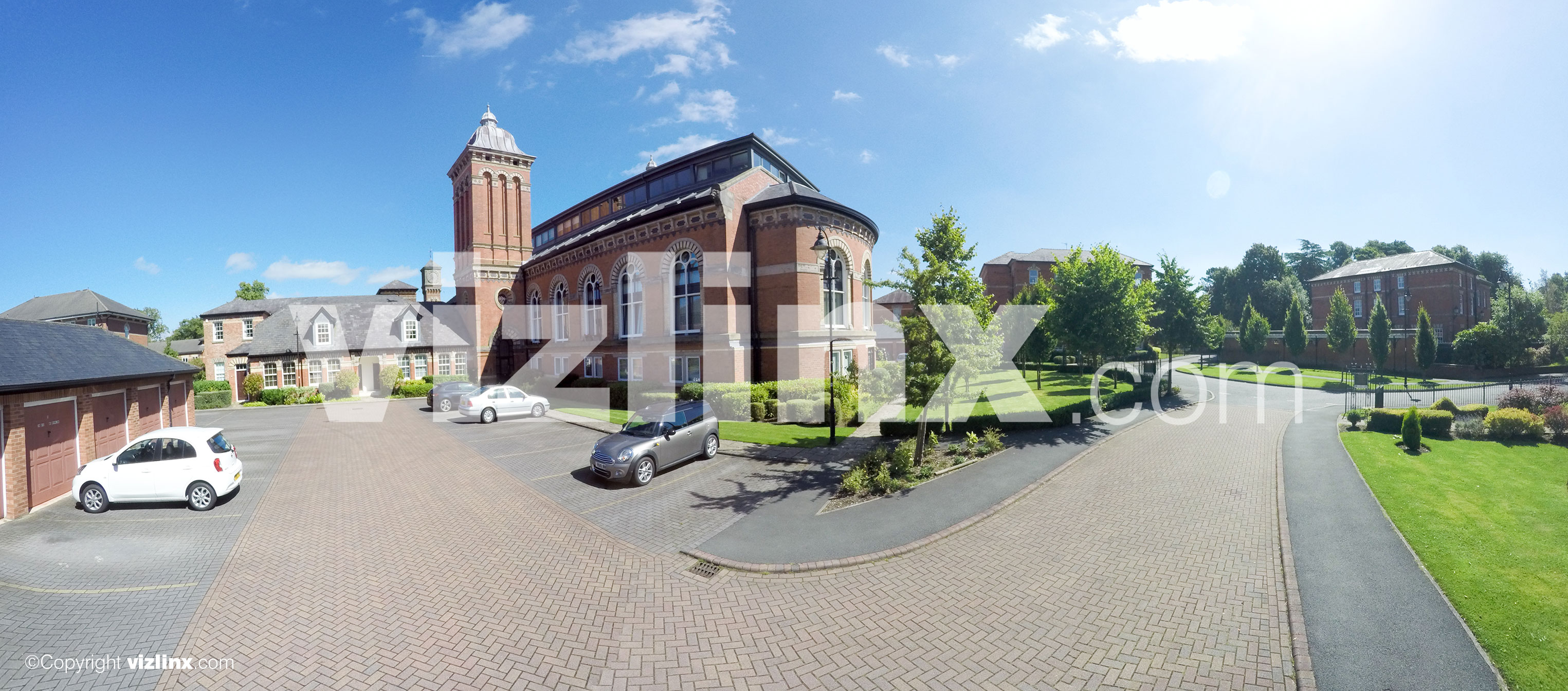 360 panorama of The Pavilions Macclesfield