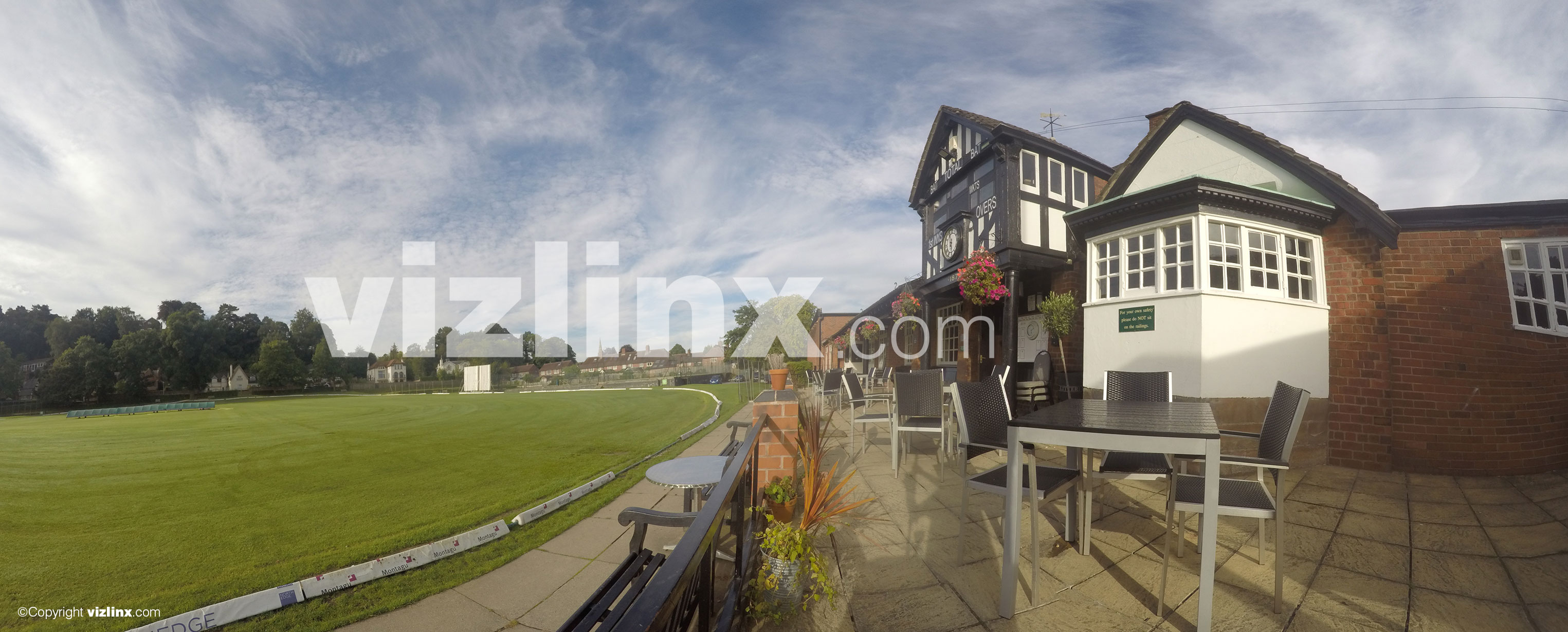 Panorama of Alderley Edge Cricket Club