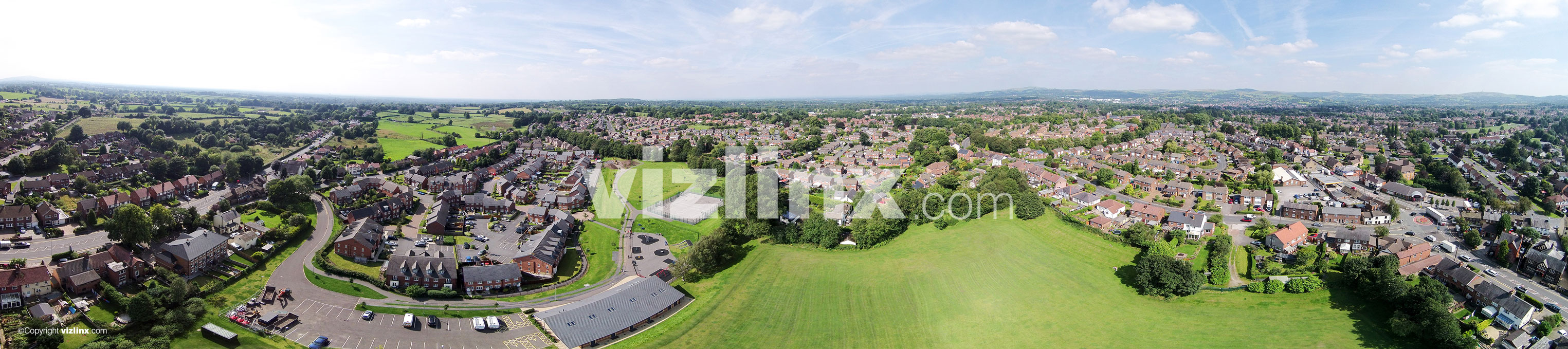 360 panorama of Broken Cross, Macclesfield